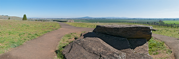 This is at Erratic Rock State Natural Site. Clicking on the image will take you to an interactive panorama of the view.
